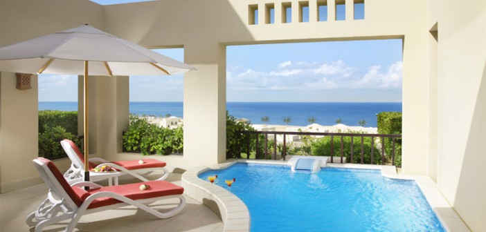 Privater Pool im Cove Rotana Resort Ras al Khaimah