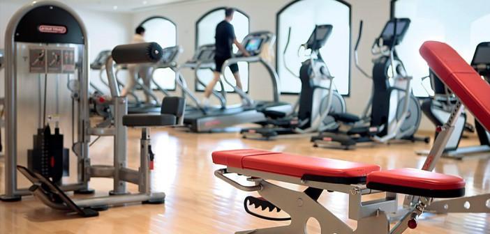 Blick auf das Fitness-Studio im Cove Rotana Ras al Khaimah