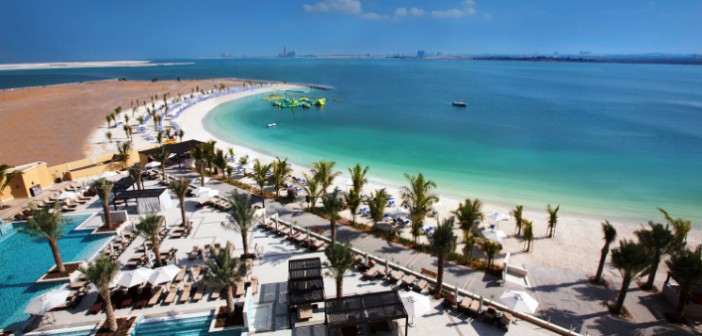 Der sensationelle Meerblick im Hotel Double Tree by Hilton Resort & Spa auf Marjan Island.