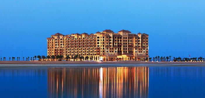 Marjan Island Resort in Ras al Khaimah in der Abenddämmerung
