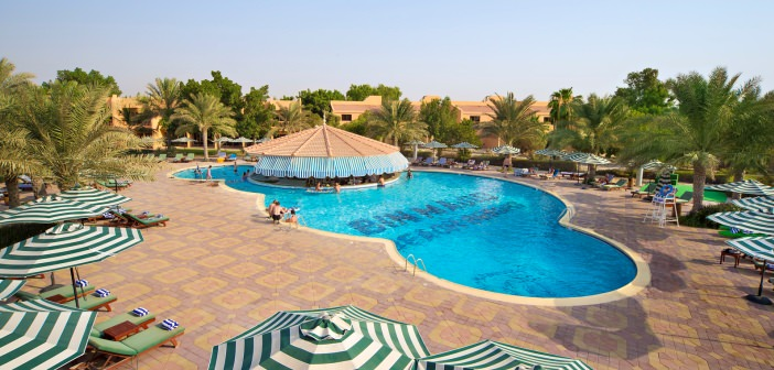 Poollandschaft im Bin Majid Beach Resorts