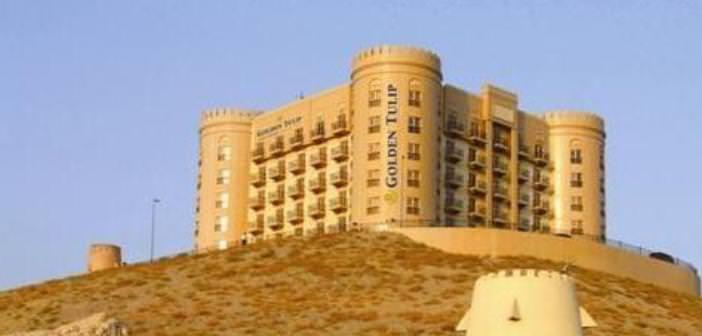 Blick auf das Hotel Golden Tulip Khatt Springs