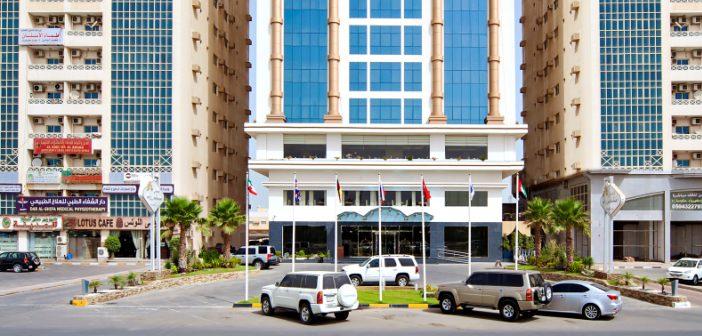 Eingang zum Mangrove Hotel Ras al Khaimah