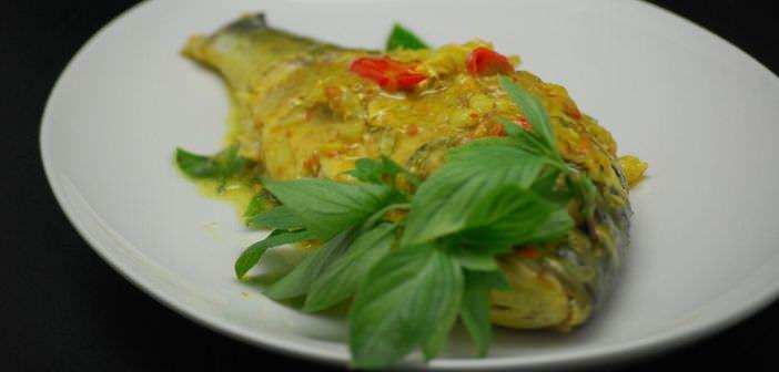 So lecker wird der Fisch im Soul Food Kochkurs im Banyan Tree al Wadi serviert.