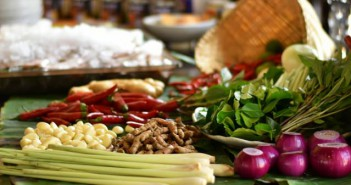 Gemüse und Kräuter anspruchsvoll dekoriert im Soul Food Kochkurs
