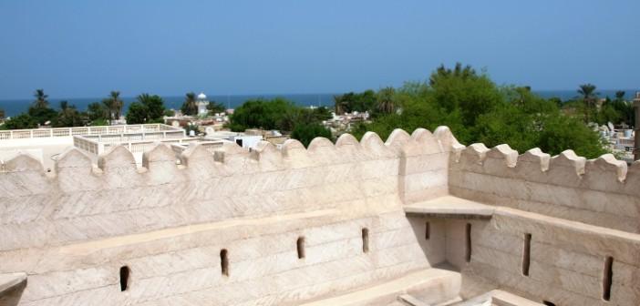 Blick zum Meer vom Nationalmuseum Ras al Khaimah