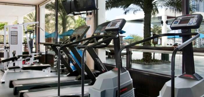 Bild auf das Fitness-Studio im Hotel Hilton Ras al Khaimah