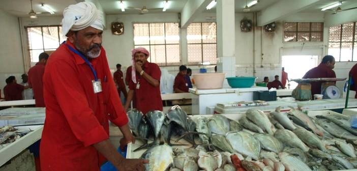 Fischstand im Fischmarkt von Ras al Khaimah